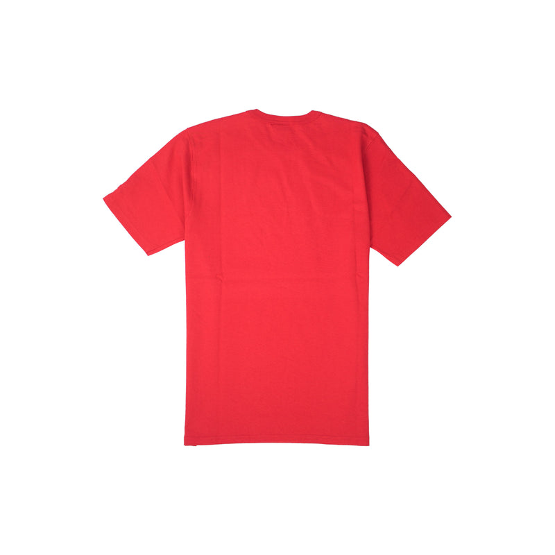 Champion Men's Reverse Weave Felt Script Tee Team Red Scarlet Back