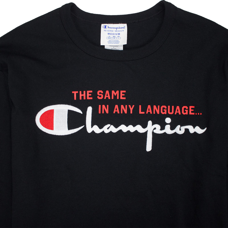 Champion Reverse Weave International Long Sleeved Chain Script T-Shirt - PremierVII