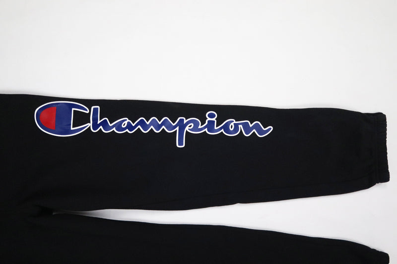 Champion Reverse Weave Super Fleece 3.0 Overalls Black Script Screen Print