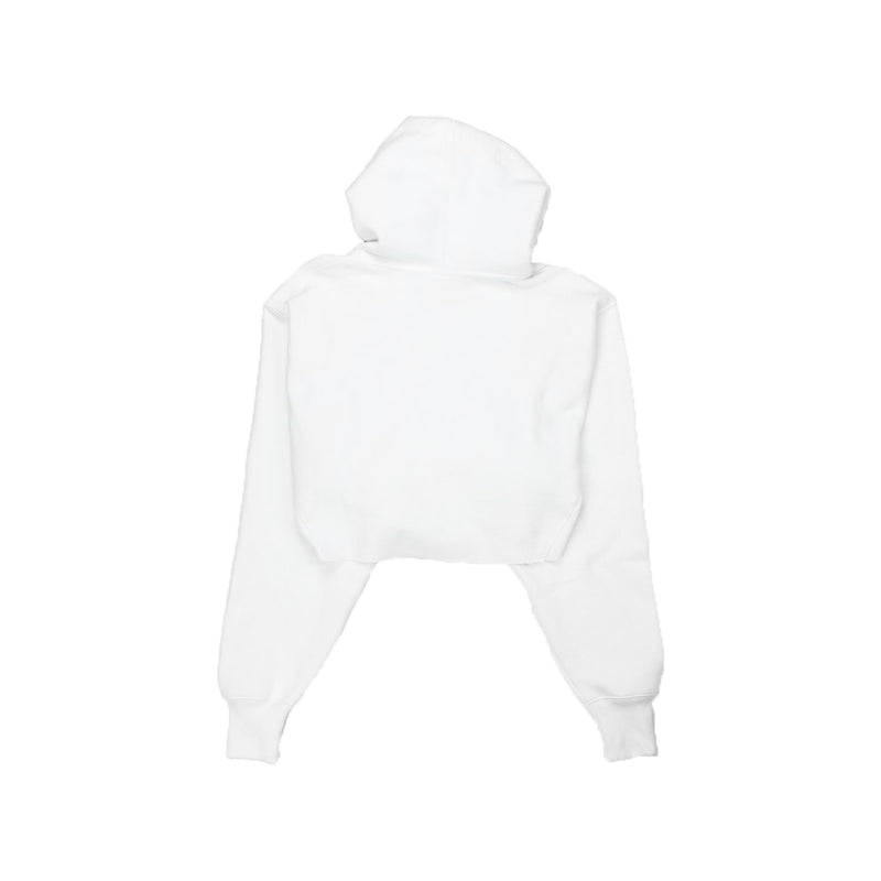 Champion Women's Reverse Weave Cropped Hoodie Men's Fit White Back