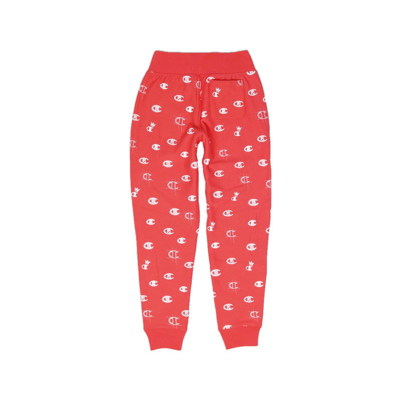 Champion Women's Reverse Weave All Over Print Joggers Groovy Papaya Back
