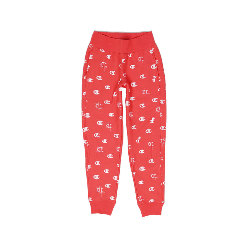 Champion Women's Reverse Weave All Over Print Joggers Groovy Papaya