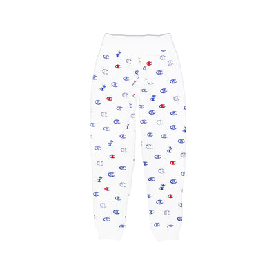 Champion Women's Reverse Weave All Over Print Joggers White