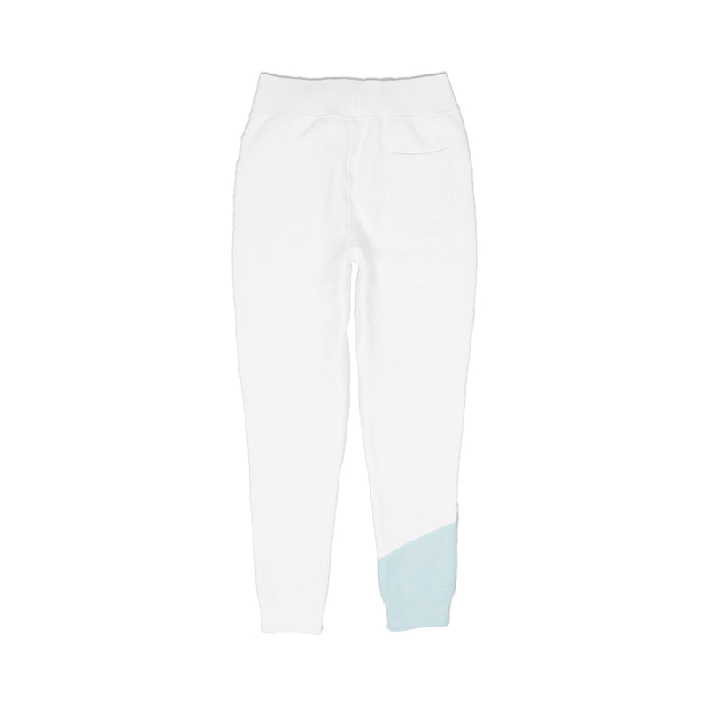 Champion Women's Reverse Weave Colorblock Joggers White Back