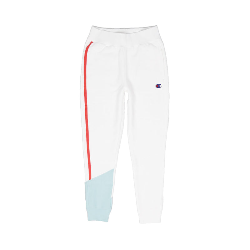 Champion Women's Reverse Weave Colorblock Joggers White