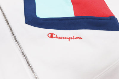 Champion Women's Reverse Weave Colorblock Zip Hoodie Artwork