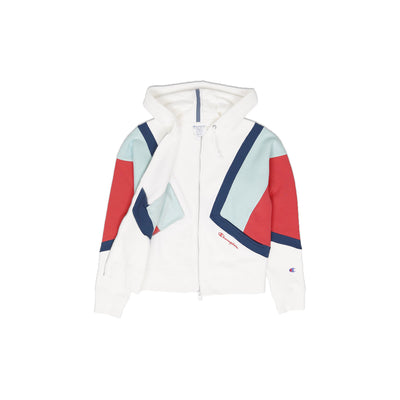 Champion Women's Reverse Weave Colorblock Zip Hoodie Opened