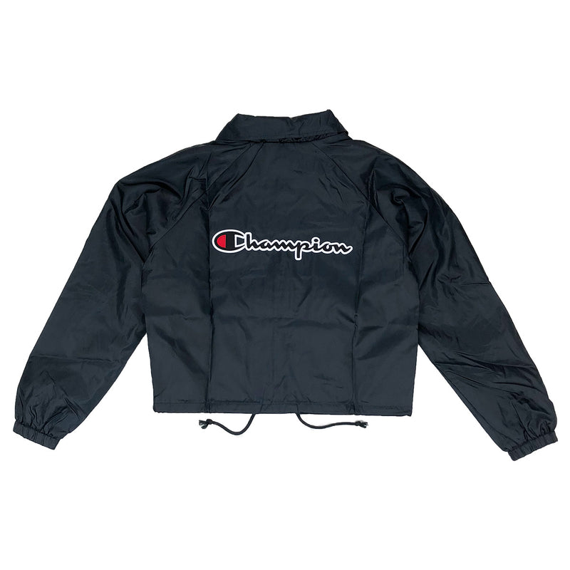 Champion Women's Cropped Coaches Jacket Black Back