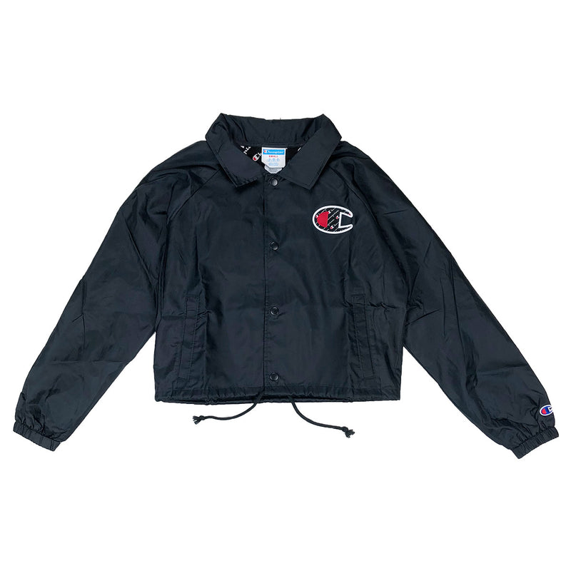 Champion Women's Cropped Coaches Jacket Black