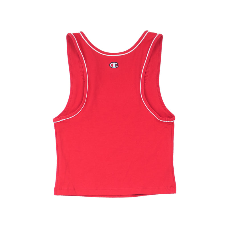 Champion Women's Everyday Crop Tank Top Team Red Scarlet Back