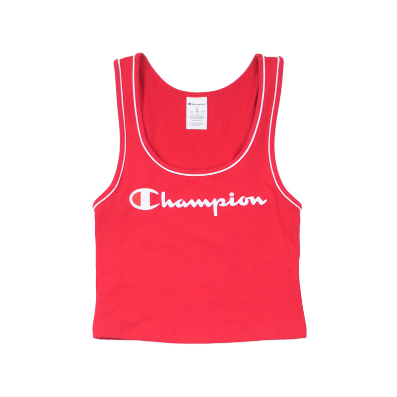 Champion Women's Everyday Crop Tank Top Team Red Scarlet