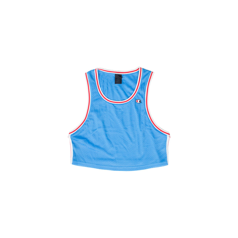 Champion Women's Mesh Cropped Tank Active Blue