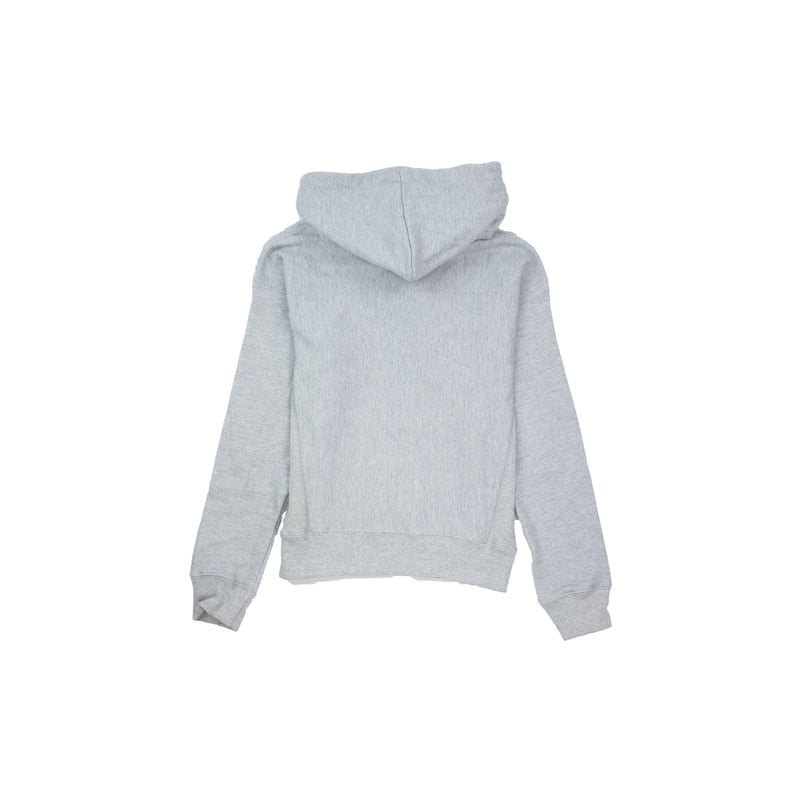 Champion Women's Reverse Weave 3 Color Script Hoodie Oxford Grey Back