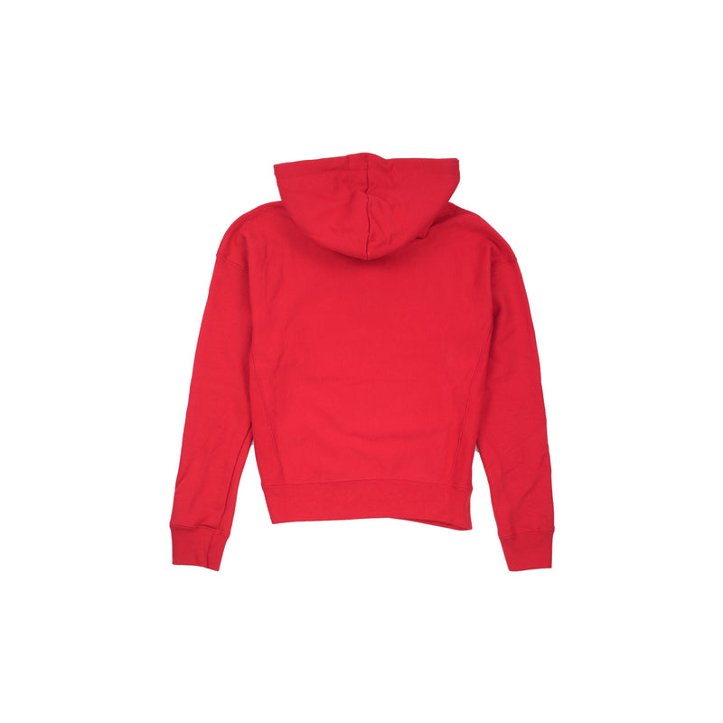Champion Women's Reverse Weave 3 Color Script Hoodie Scarlet Back