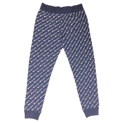 Champion Women's Reverse Weave All Over Script Joggers Navy Back