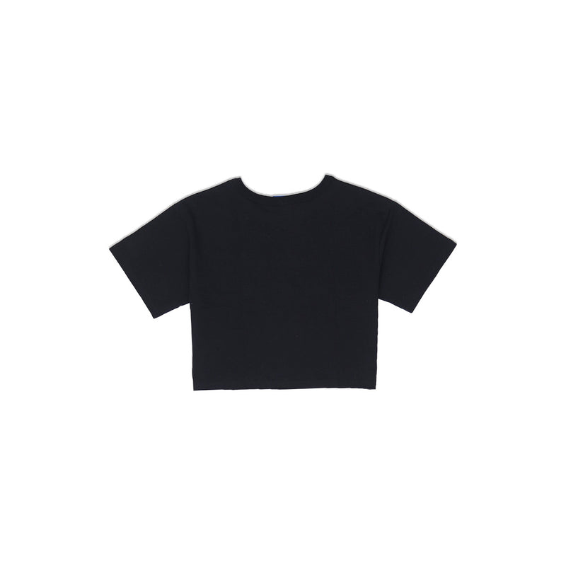 Champion Women's Reverse Weave Cropped Tee Black Back
