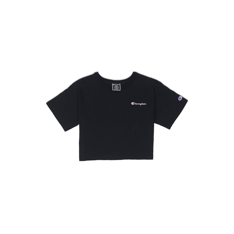 Champion Women's Reverse Weave Cropped Tee Black