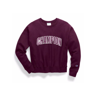 Champion Women's Fleece Floss C Crew Neck Venetian Purple