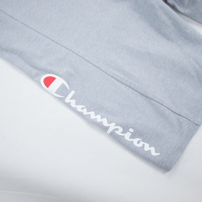 Champion Women's High Waist Streetwear Bike Shorts Oxford Grey Artwork
