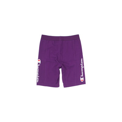 Champion Women's High Waist Streetwear Bike Shorts Venetian Purple Back