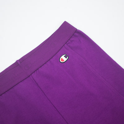 Champion Women's High Waist Streetwear Bike Shorts Venetian Purple Logo