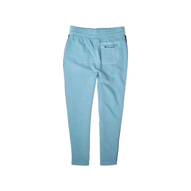 Champion Women's Vintage Dye Fleece Track Pants Cornflower Teal Back