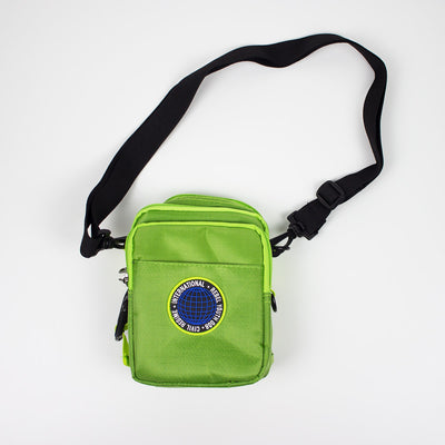 Civil Regime Global Crossbody Bag Green Strap