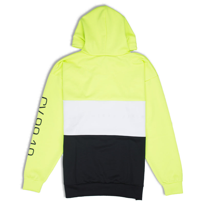 Civil Regime Crusa Pullover Hoodie In Neon Green Back