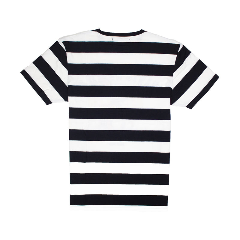 Civil Regime Earth Crisis Stripe Tee White & Black Back