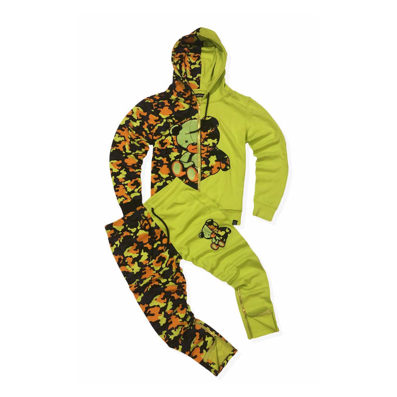 Civilized Men's Teddy Bear Sweatsuit Lime