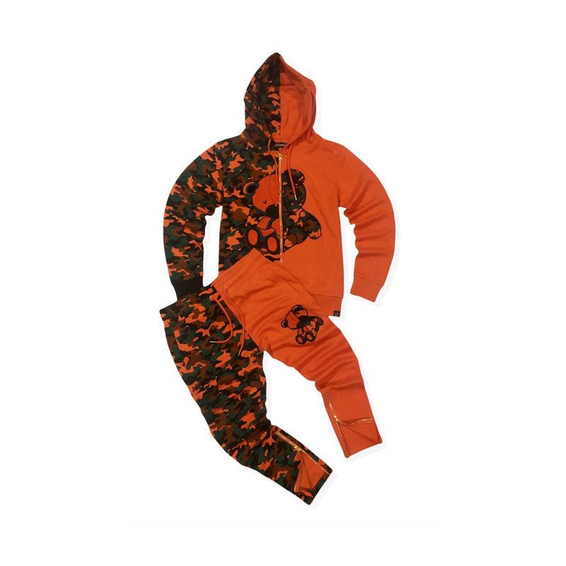 Civilized Men's Teddy Bear Sweatsuit Orange