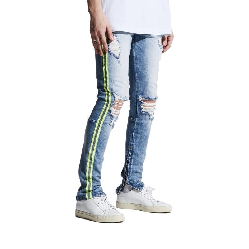 Crysp Denim Atlanta Striped Jeans 3M Highlighter
