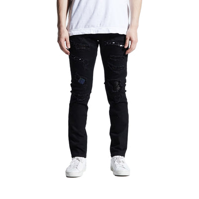 Crysp Denim Men's Atlantic Jeans Black Front