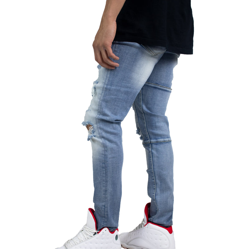 Crysp Denim Men's Atlantic Denims (Blue Ripped) Left