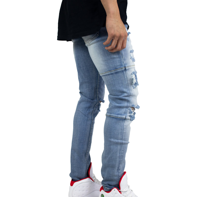 Crysp Denim Men's Atlantic Denims (Blue Ripped) Right