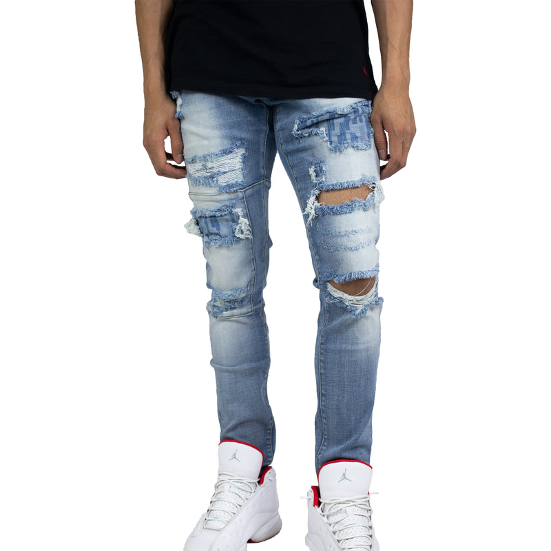 Crysp Denim Men's Atlantic Denims (Blue Ripped)