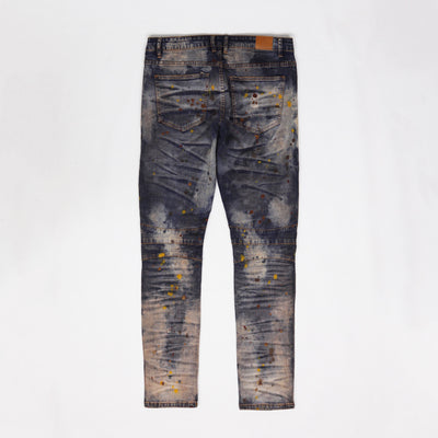 CRYSP Denim Skywalker Biker Jeans Acid Wash Back