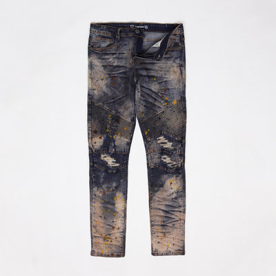 CRYSP Denim Skywalker Biker Jeans Acid Wash