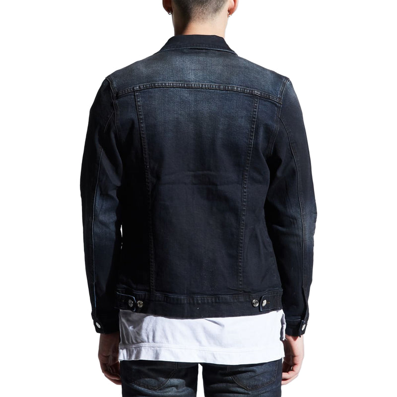 Embellish Men's Clemente Denim Jacket Charcoal Back