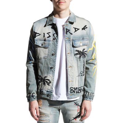 Embellish Men's Disorda Denim Jacket Light Vintage Front