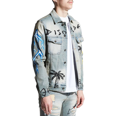 Embellish Men's Disorda Denim Jacket Light Vintage