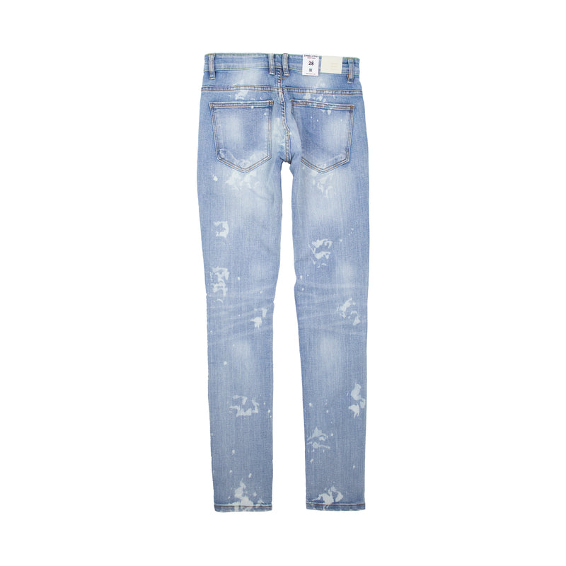 Embellish Men's Reggie Rip and Repair Denims Light Blue Back