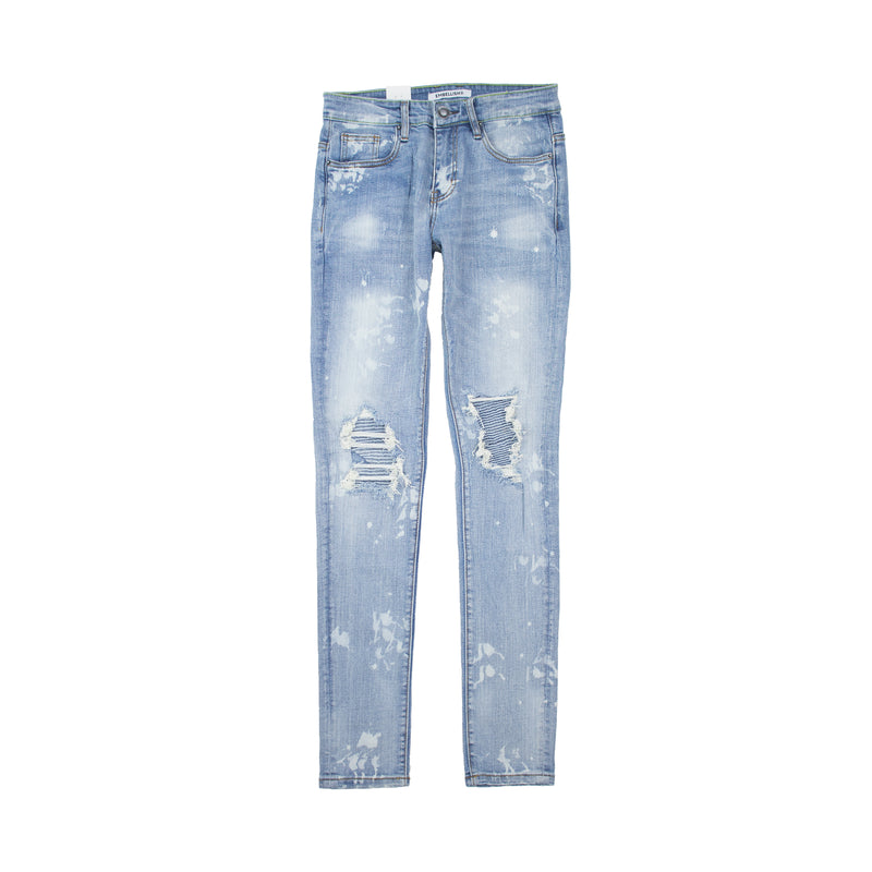 Embellish Men's Reggie Rip and Repair Denims Light Blue