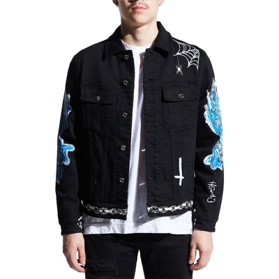 Embellish Men's Reapers Denim Jacket Front