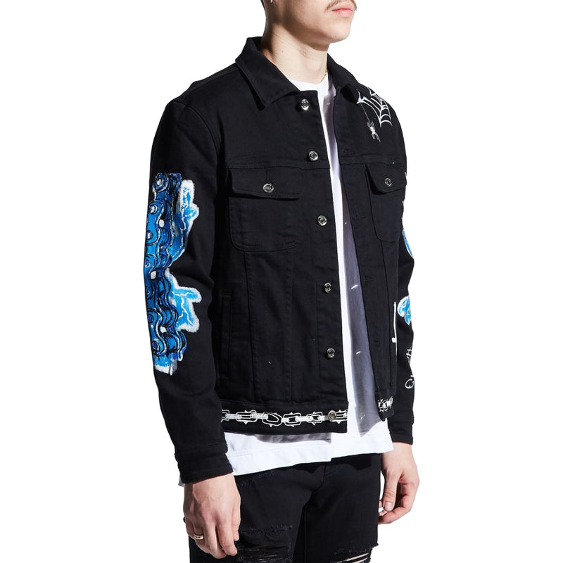 Embellish Men's Reapers Denim Jacket Black