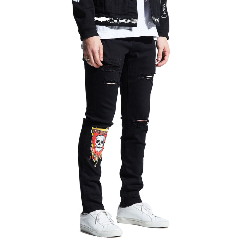 Embellish Men's Reapars Standard Jeans Black