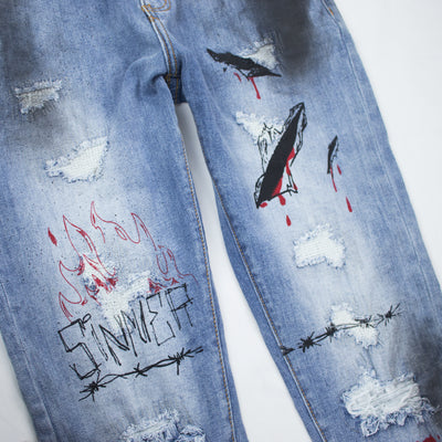 Embellish Men's Reznor Denim Blue Front Detail