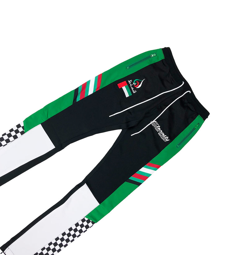 Eternity Dubai Racing Track Pants Black Front