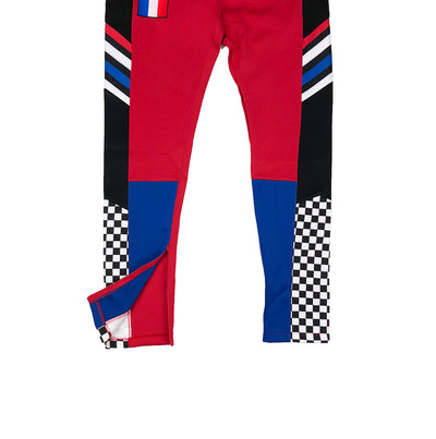 Eternity BC / AD France Racing Track Pants Red Zipper