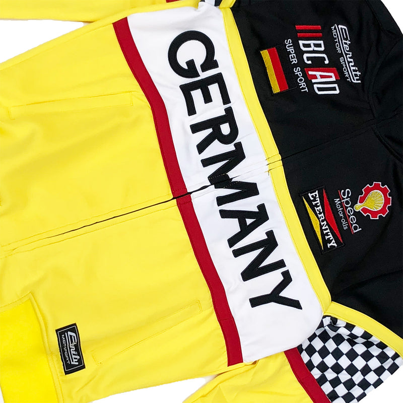 Eternity BC / AD Germany Moto Track Jacket Yellow Front